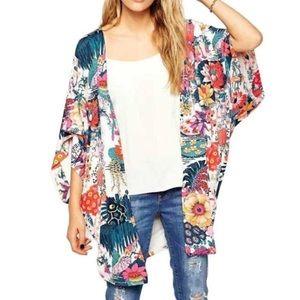 Sweaters - Open Front Kimono